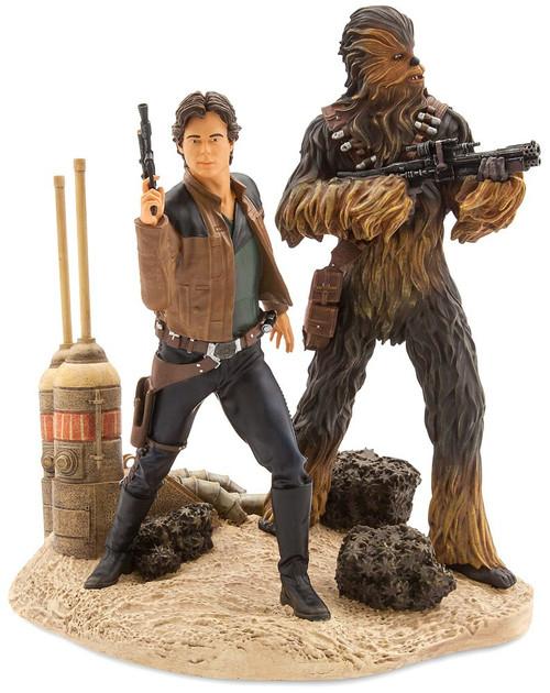 Disney Star Wars Han Solo & Chewbacca Exclusive Figurine Statue