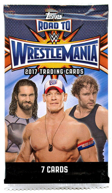 WWE Wrestling Topps 2017 Road to WrestleMania Trading Card Pack