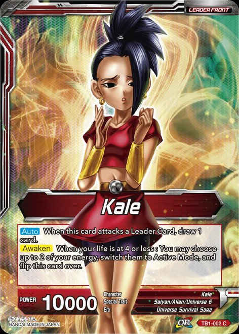 Dragon Ball Super Collectible Card Game Tournament of Power Common Kale TB1-002
