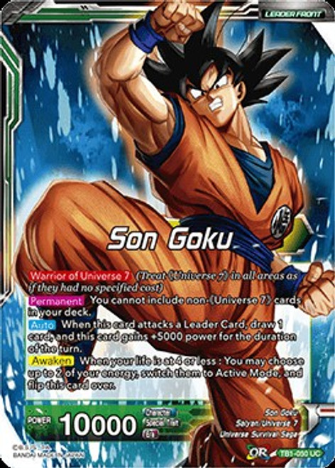 Dragon Ball Super Collectible Card Game Tournament of Power Uncommon Son Goku TB1-050