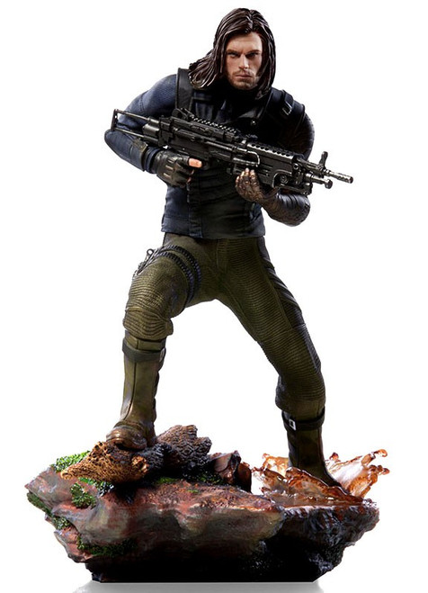 Marvel Avengers Infinity War Winter Soldier Battle Diorama Statue [White Wolf]