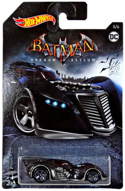 Hot Wheels Batman Arkham Asylum Batmobile Die-Cast Car