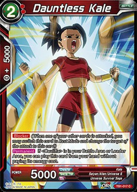 Dragon Ball Super Trading Card Game Tournament of Power Common Dauntless Kale TB1-017