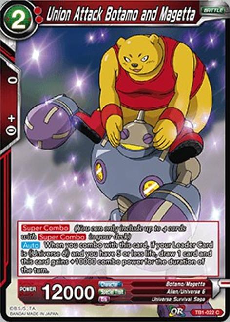 Dragon Ball Super Collectible Card Game Tournament of Power Common Union Attack Botamo and Magetta TB1-022