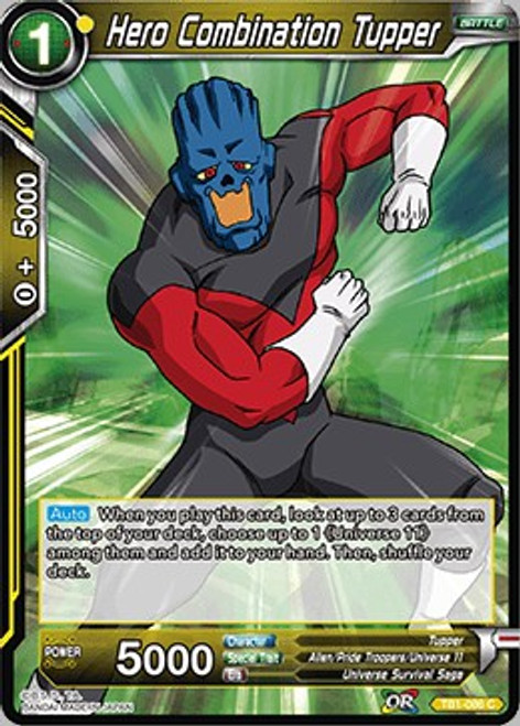 Dragon Ball Super Collectible Card Game Tournament of Power Common Hero Combination Tupper TB1-086