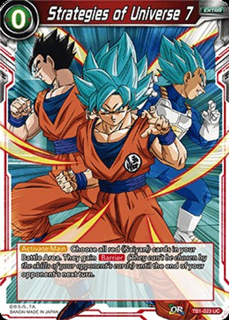 Dragon Ball Super Trading Card Game Tournament of Power Uncommon Strategies of Universe 7 TB1-023