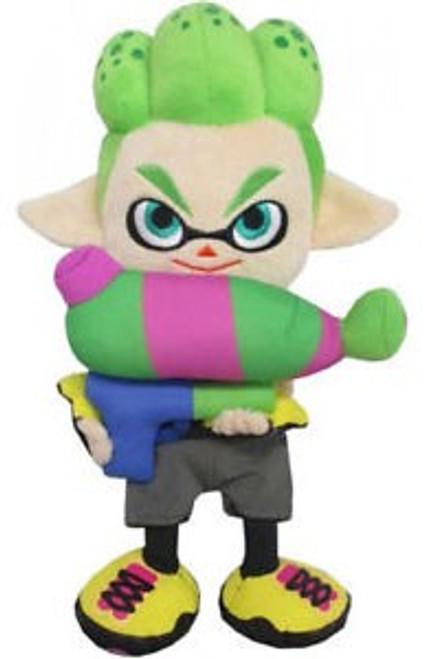 Splatoon Inkling Boy Neon Green 9-Inch Plush