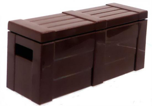 BrickArms Crate with Lid 2.5-Inch [Dark Brown]