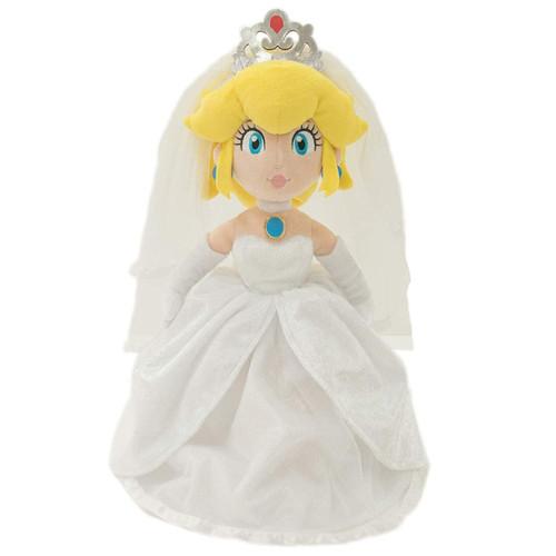 Super Mario Bros Peach Bride 16-Inch Plush