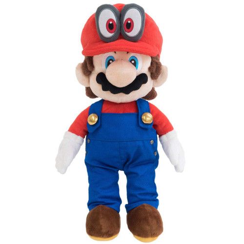 Super Mario Bros Mario Odyssey 16-Inch Plush [Removable Hat]