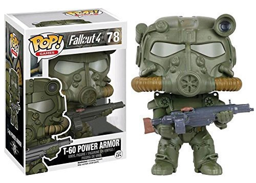 Funko Fallout 4 POP! Games T-60 Power Armor Exclusive Vinyl Figure #78 [Green, Damaged Package]