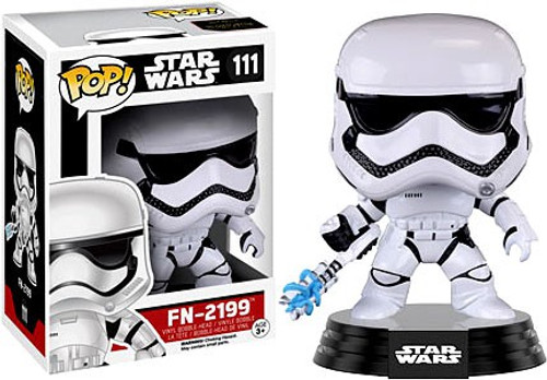 Funko The Force Awakens POP! Star Wars FN-2199 Trooper Vinyl Bobble Head #111 [EP7, Damaged Package]