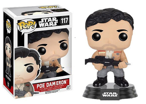 Funko The Force Awakens POP! Star Wars Poe Dameron Exclusive Vinyl Bobble Head #117 [Damaged Package]