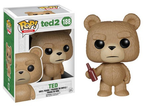 Funko Ted 2 POP! Movies Ted with Beer Vinyl Figure #188 [Damaged Package]