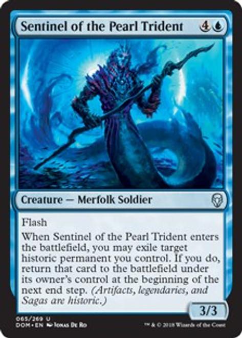 MtG Dominaria Uncommon Foil Sentinel of the Pearl Trident #65
