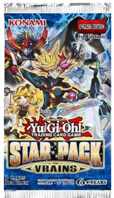 YuGiOh Trading Card Game Star Pack VRAINS Booster Pack