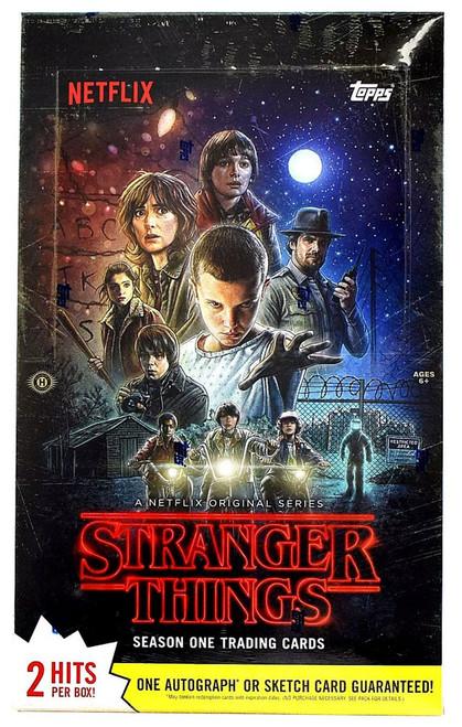 Stranger Things Trading Card HOBBY Box [24 Packs, 2 Hits Per Box!]
