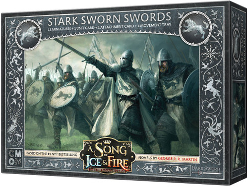 A Song of Ice & Fire Stark Sworn Swords Tabletop Miniatures Game