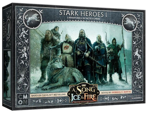 A Song of Ice & Fire Stark Heroes #1 Tabletop Miniatures Game