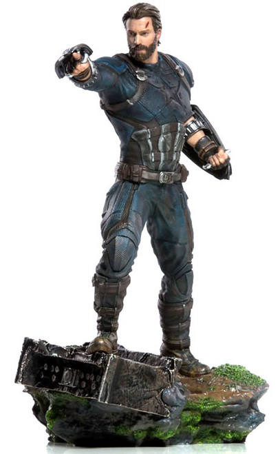 Marvel Avengers Infinity War Captain America Battle Diorama Statue