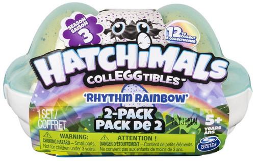 Hatchimals Colleggtibles Season 3 Rhythm Rainbow Mystery 2-Pack [Egg Carton]