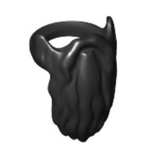 LEGO Black Beard with Rounded End Minifigure Accessory [Loose]