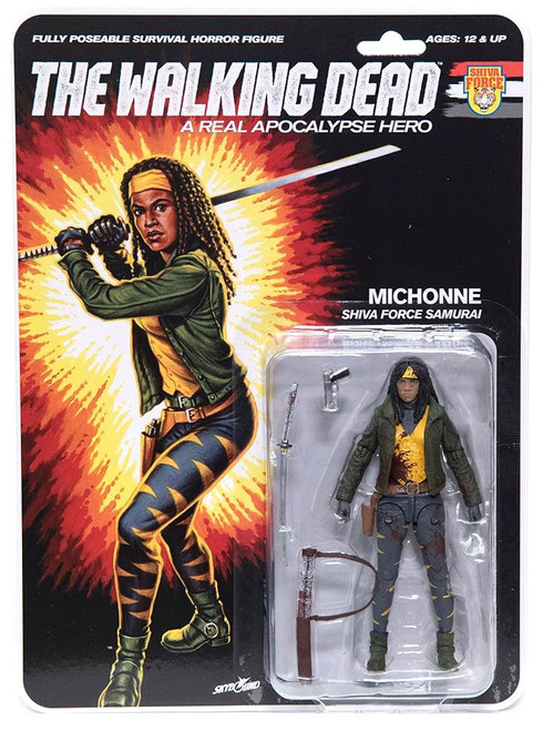 McFarlane Toys The Walking Dead Shiva Force Michonne Action Figure [Bloody]