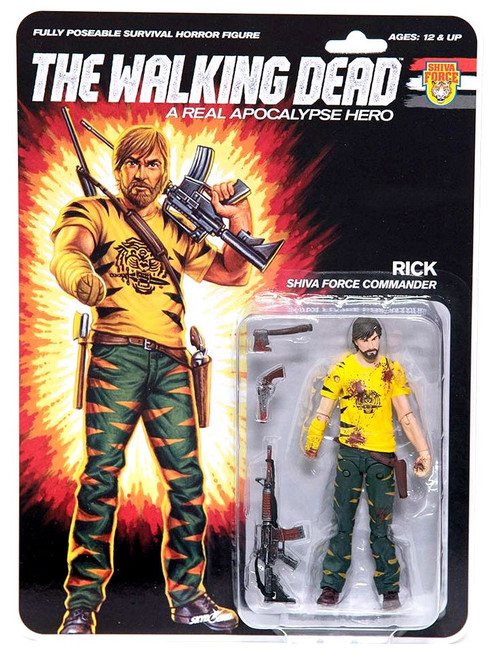 McFarlane Toys The Walking Dead Shiva Force Rick Action Figure [Bloody]