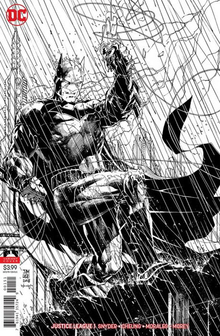 DC Justice League #1 Comic Book [Jim Lee & Scott Williams Inks Only Variant]