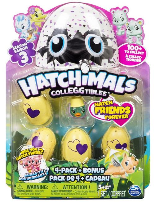 Hatchimals Colleggtibles Season 3 Rhythm Rainbow Mystery 4-Pack + Bonus