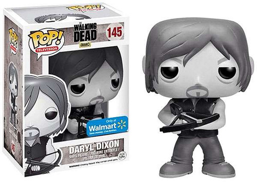 Funko The Walking Dead POP! TV Daryl Dixon Exclusive Vinyl Figure #145 [Black & White, Damaged Package]