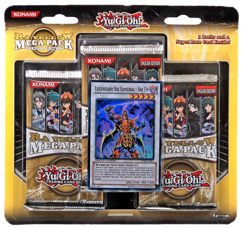 YuGiOh Trading Card Game Ra Yellow Mega Pack Special Edition [3 Booster Packs & Super Rare Card!]