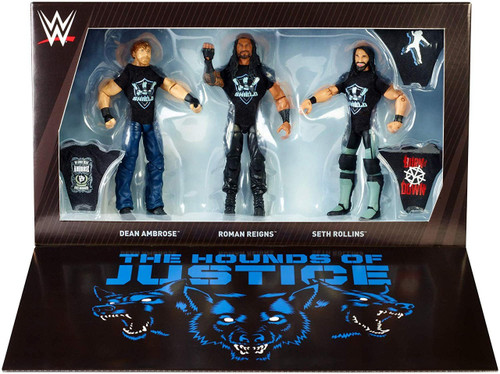 WWE Wrestling Elite Collection Epic Moments Roman Reigns, Seth Rollins & Dean Ambrose Action Figure 3-Pack [The Shield Reunion]