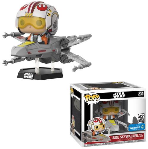 Funko POP! Star Wars Luke Skywalker with X-Wing Exclusive Vinyl Bobble Head #232