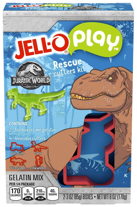 Jurassic World Jello Play Lime Rescue Cutters Kit