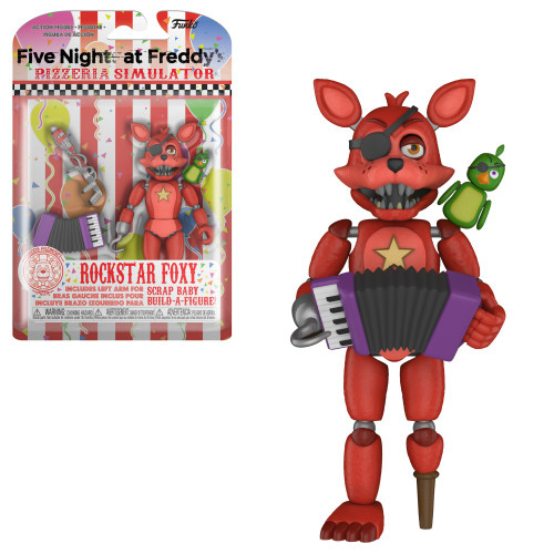 Funko Five Nights at Freddy's Pizzeria Simulator Rockstar Foxy Action Figure [Scrap Baby Part]
