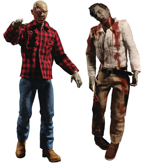 Dawn of the Dead One:12 Collective Flyboy & Plaid Shirt Zombie Action Figure Boxed Set 2-Pack