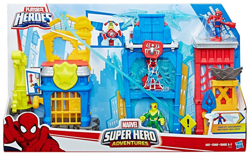 Marvel Playskool Heroes Super Hero Adventures Spider-Man Web-Quarters Playset