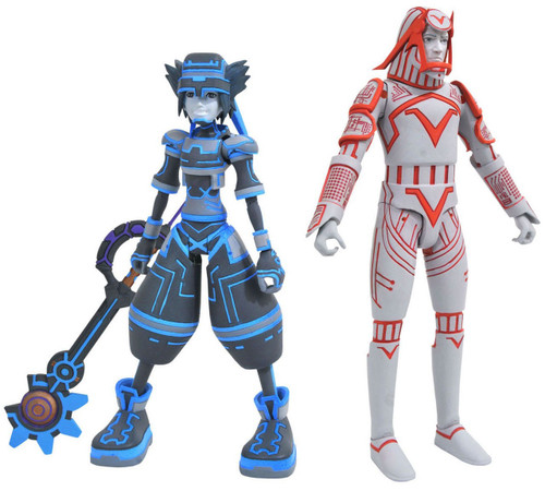 Disney Kingdom Hearts Series 3 Space Paranoids Sora (with Photon Debugger) & Donald with Sark Action Figure Set