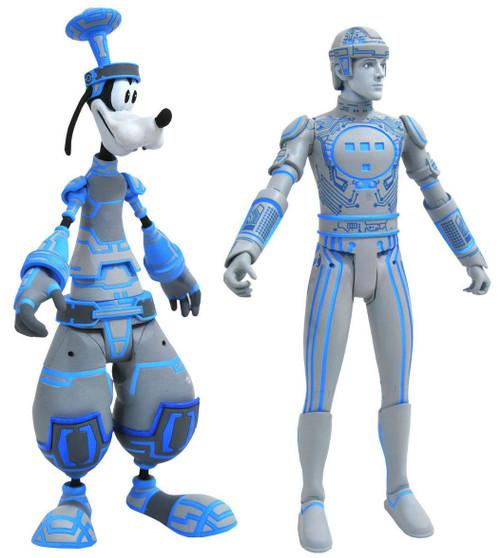 Disney Kingdom Hearts Series 3 Space Paranoids Goofy & Tron Action Figure Set