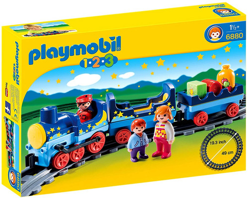 Playmobil 1.2.3 Night Train with Track Set #6880