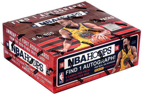 NBA Panini 2018-19 Hoops Basketball Trading Card RETAIL Box [24 Packs]