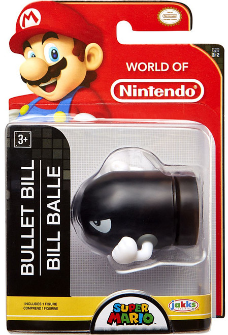 World of Nintendo Super Mario Wave 17 Bullet Bill 2.5-Inch Mini Figure