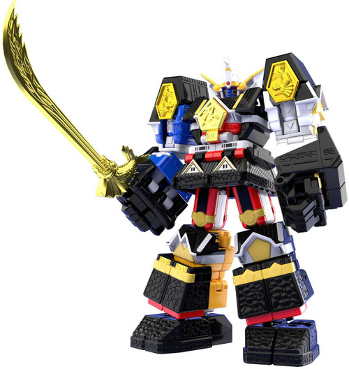Power Rangers Mighty Morphin Alien Rangers Super Mini Pla Shogun Megazord 5.9-Inch Model Kit Figure