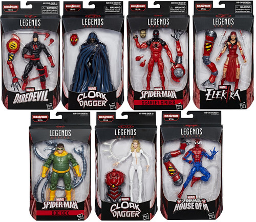 Spider-Man Marvel Legends Infinite SP//dr Series Set of 7 Action Figures