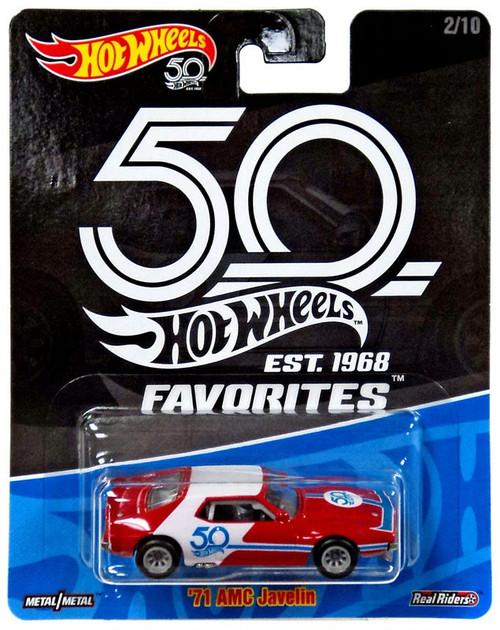 Hot Wheels 50th Anniversary Favorites '71 AMC Javelin Diecast Car #2/10