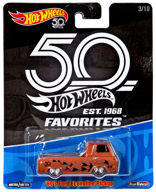 Hot Wheels 50th Anniversary Favorites '60's Ford Econoline Pickup Die-Cast Car #3/10