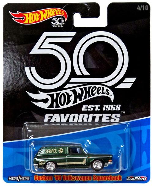 Hot Wheels 50th Anniversary Favorites Custom '69 Volkswagen Squareback Die-Cast Car #4/10