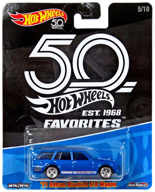 Hot Wheels 50th Anniversary Favorites '71 Datsun Bluebird 510 Wagon Diecast Car #5/10