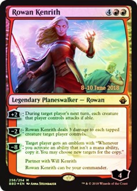 MtG Prerelease & Release Mythic Rare Rowan Kenrith #256 [Prerelease Foil, Date Stamped]